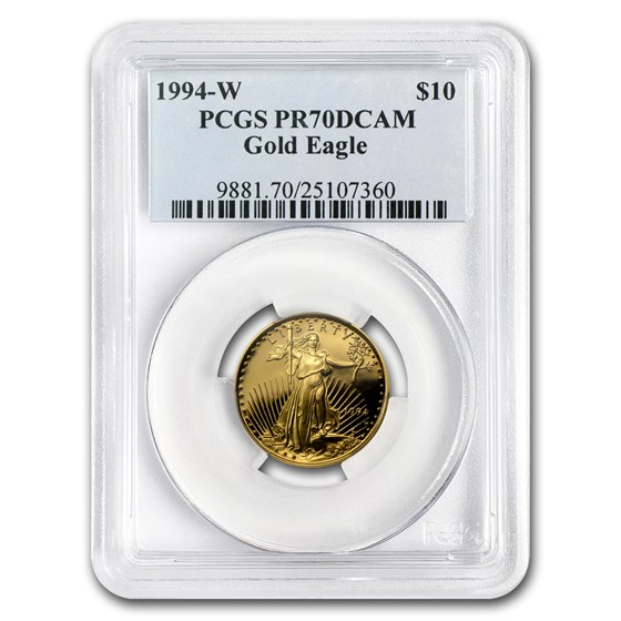 1994-W 1/4 oz Proof American Gold Eagle PR-70 PCGS
