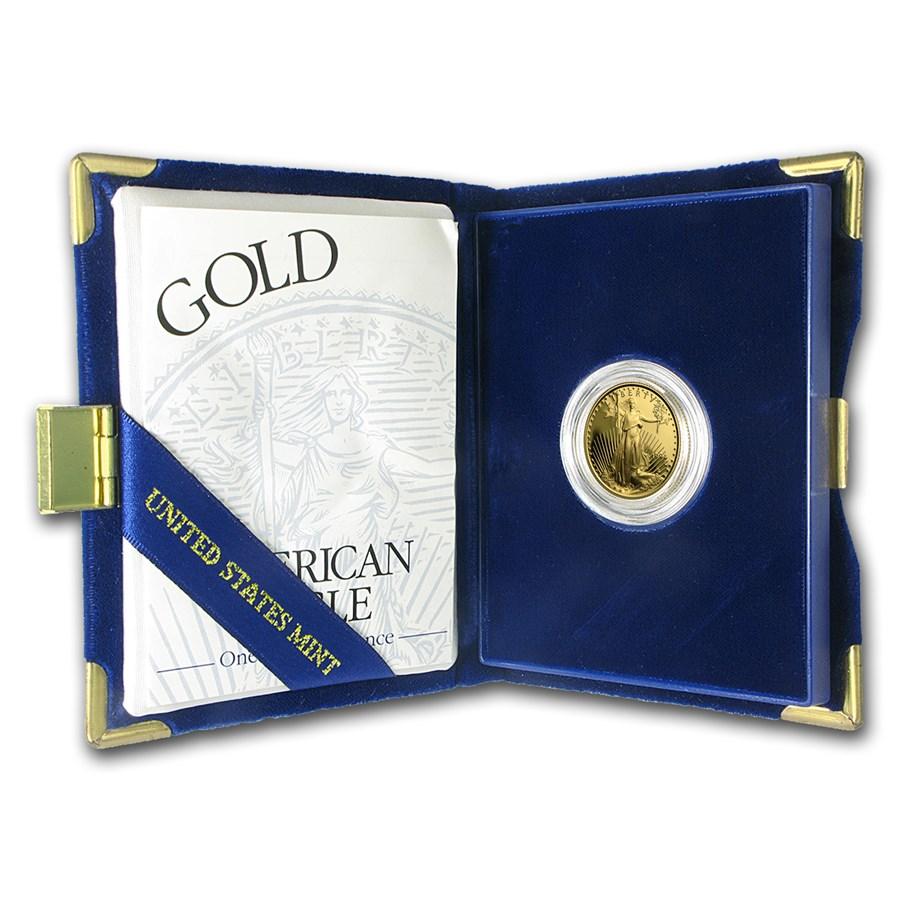 1994-W 1/4 oz Proof American Gold Eagle (w/Box & COA)