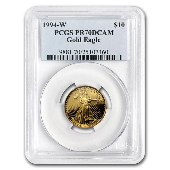 1994-W 1/4 oz Proof Gold American Eagle PR-70 PCGS