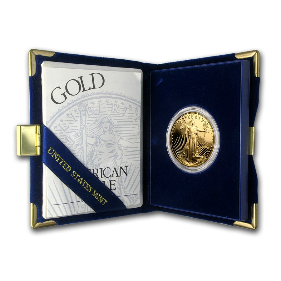1994-W 1 oz Proof American Gold Eagle (w/Box & COA)