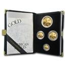 1994-W 4-Coin Proof American Gold Eagle Set (w/Box & COA)