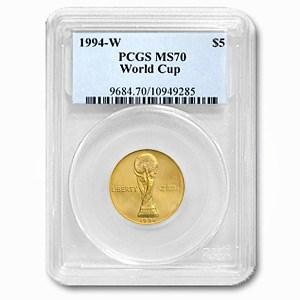 1994-W Gold $5 Commem World Cup MS-70 PCGS