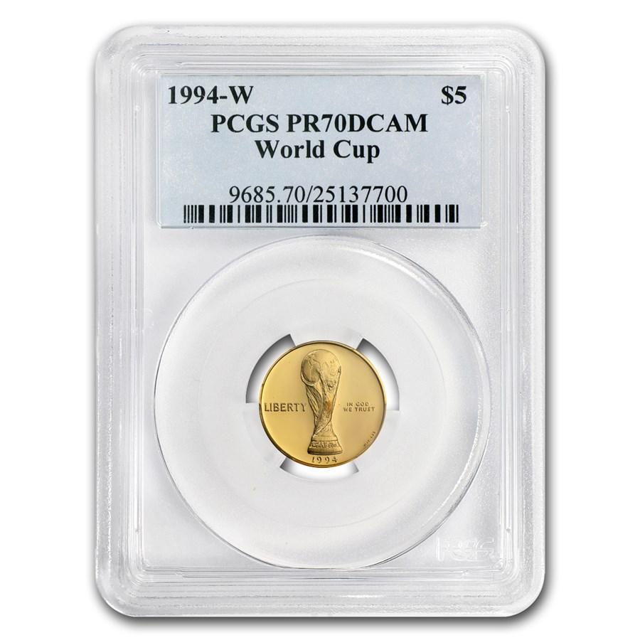 1994-W Gold $5 Commem World Cup PR-70 PCGS