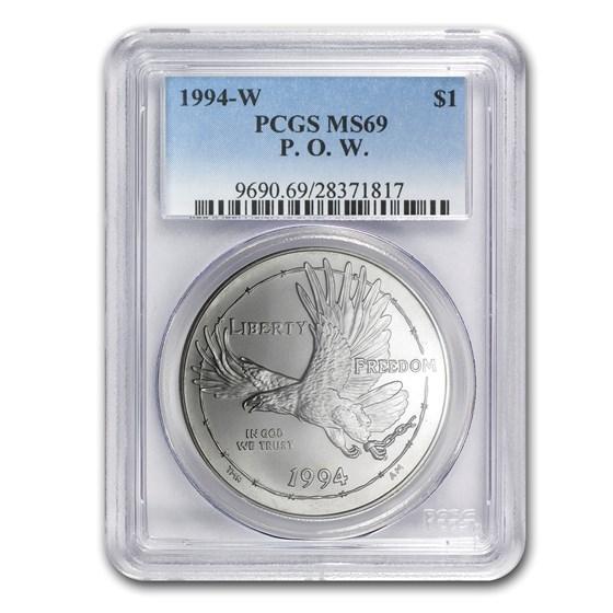 1994-W Prisoner of War $1 Silver Commem MS-69 PCGS