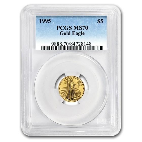 1995 1/10 oz American Gold Eagle MS-70 PCGS