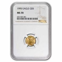 1995 1/10 oz Gold American Eagle MS-70 NGC