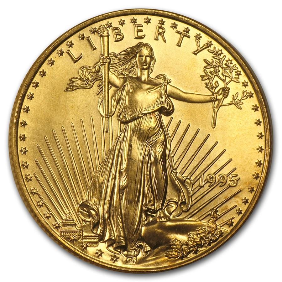 1995 1/2 oz American Gold Eagle BU