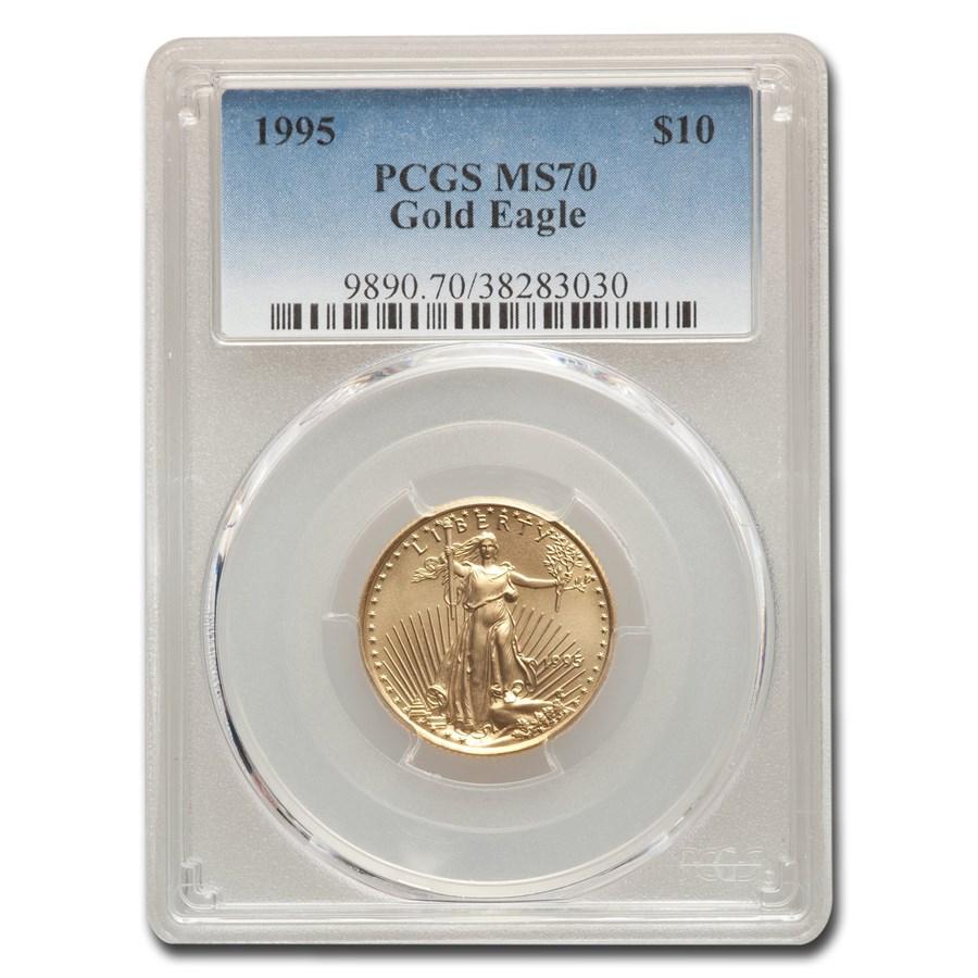 1995 1/4 oz American Gold Eagle MS-70 PCGS