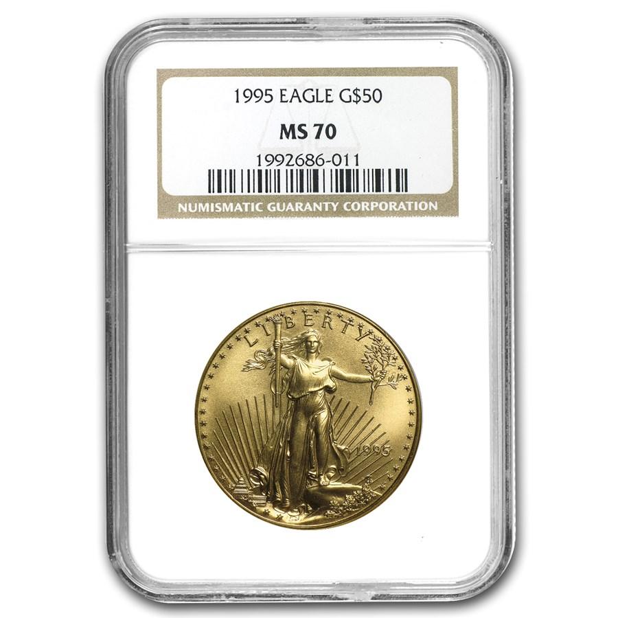 1995 1 oz American Gold Eagle MS-70 NGC