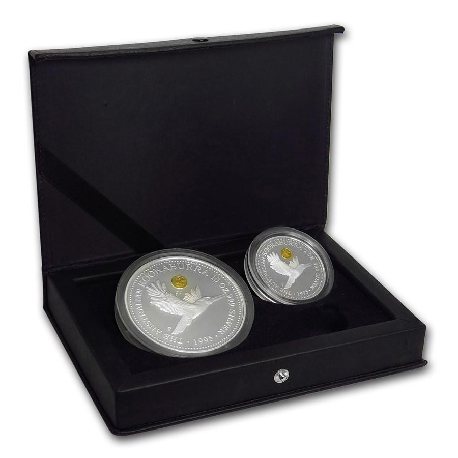 1995 2-Coin Silver Kookaburra Golden Eagle Privy Set BU