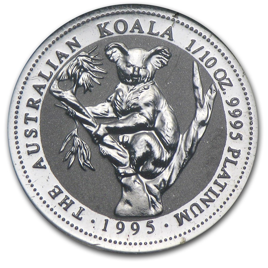 1995 Australia 1/10 oz Platinum Koala BU