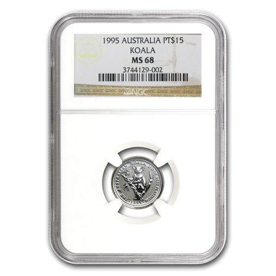 1995 Australia 1/10 oz Platinum Koala MS-68 NGC