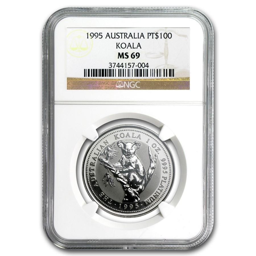 1995 Australia 1 oz Platinum Koala MS-69 NGC