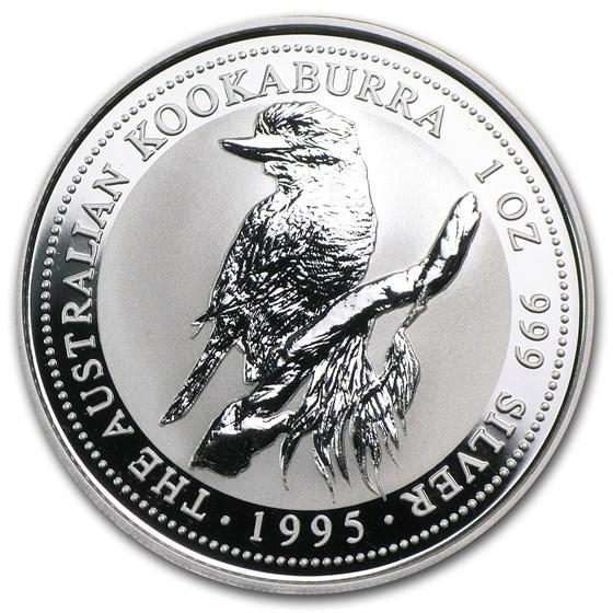 1995 Australia 1 oz Silver Kookaburra BU