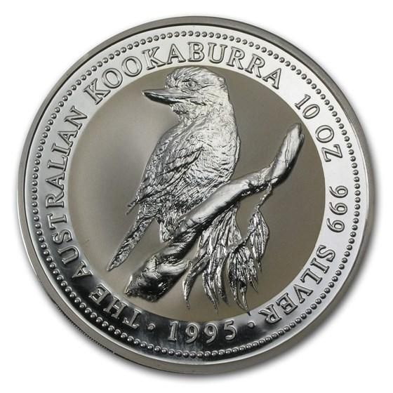 1995 Australia 10 oz Silver Kookaburra BU