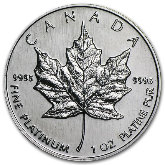 1995 Canada 1 oz Platinum Maple Leaf BU