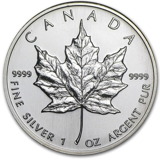 1995 Canada 1 oz Silver Maple Leaf BU