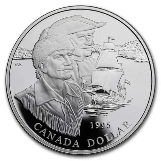 1995 Canada Silver Dollar BU (Hudson Bay Company)