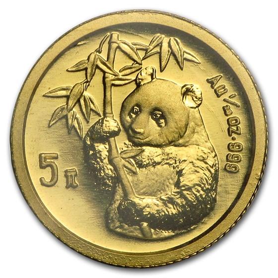 1995 China 1/20 oz Gold Panda Small Date BU (Sealed)