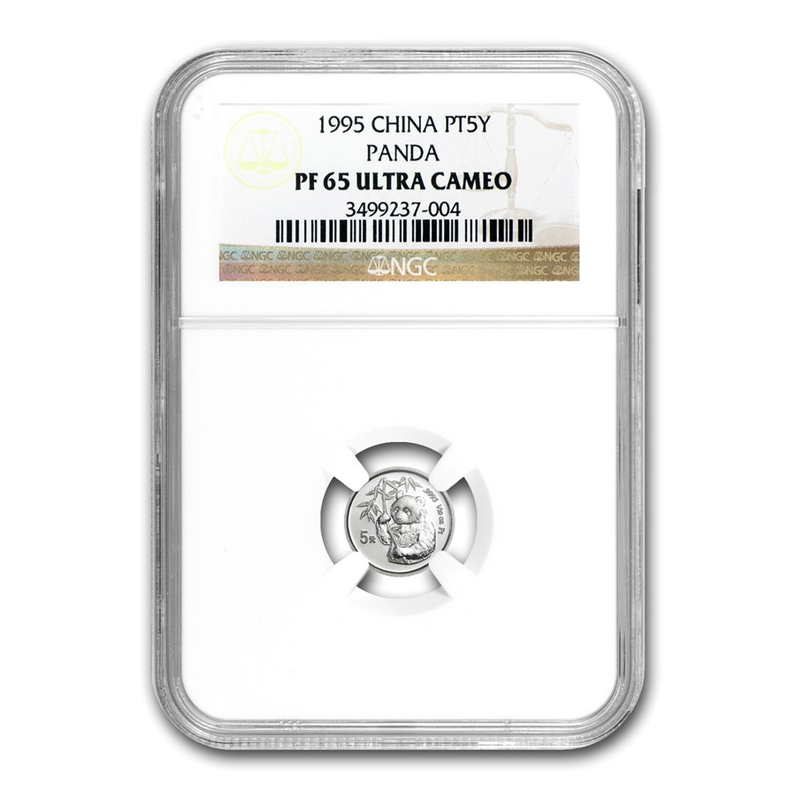 1995 China 1/20 oz Proof Platinum Panda PF-65 NGC