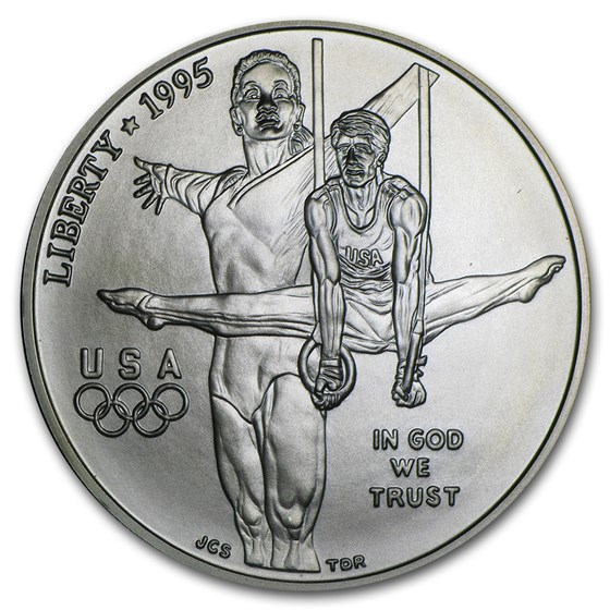 1995-D Olympic Gymnast $1 Silver Commem BU (Capsule Only)