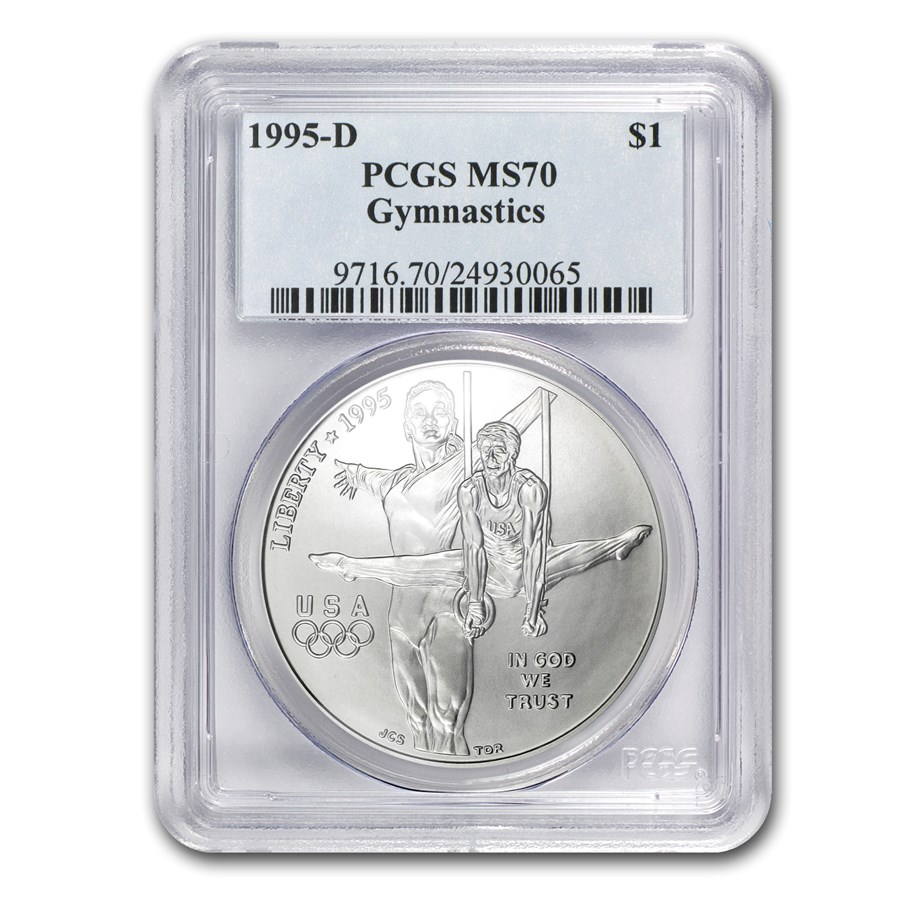 1995-D Olympic Gymnast $1 Silver Commem MS-70 PCGS