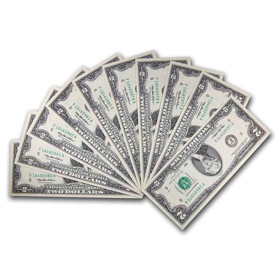 1995 (F-Atlanta) $2.00 FRN CU (Fr#1936-F) 10 Consecutive