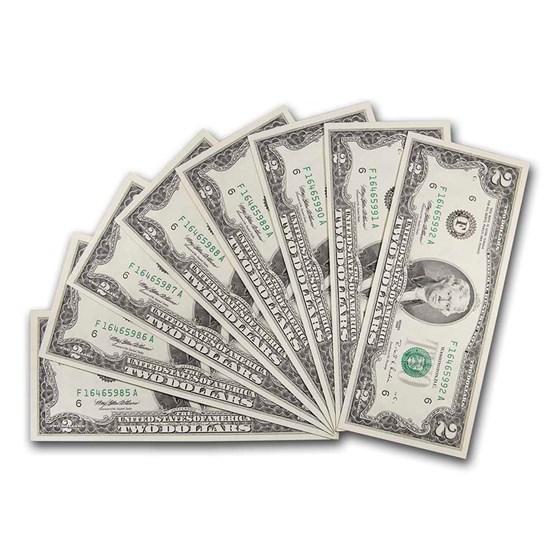 1995 (F-Atlanta) $2.00 FRN CU (Fr#1936-F) 16 Consecutive