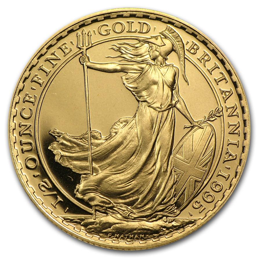 1995 Great Britain 1/2 oz Proof Gold Britannia