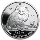1995 Isle of Man 1 oz Silver Turkish Cat Proof