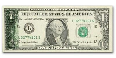 1995 (L-San Francisco) $1 FRN AU (Back/Front 15% Offset Error)