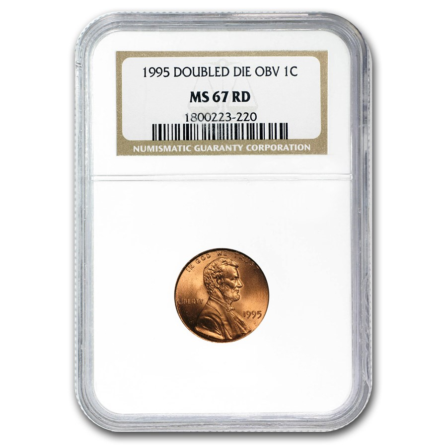 1995 Lincoln Cent Doubled Die Obv MS-67 NGC (Red)