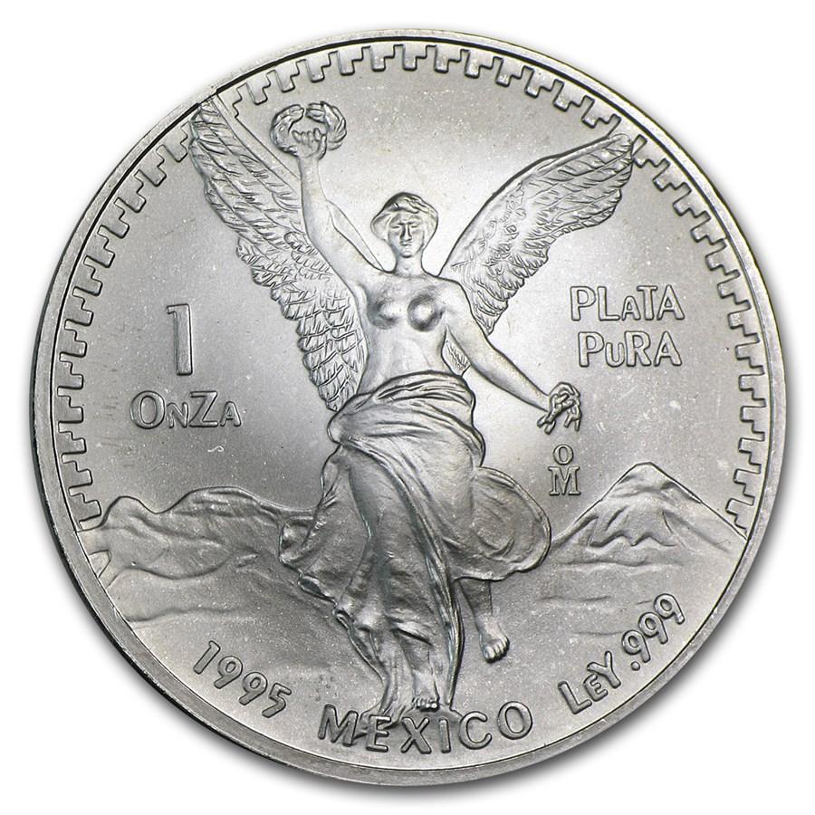 1995 Mexico 1 oz Silver Libertad BU