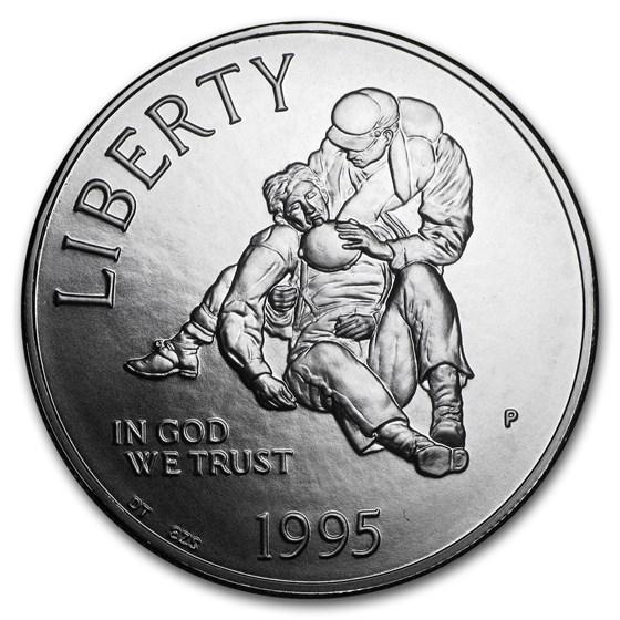 1995-P Civil War $1 Silver Commem BU (w/Box & COA)