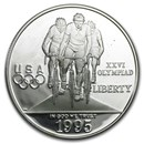 1995-P Olympic Cycling $1 Silver Commem Proof (Capsule only)