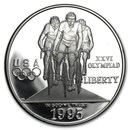 1995-P Olympic Cycling $1 Silver Commem Proof (w/Box & COA)