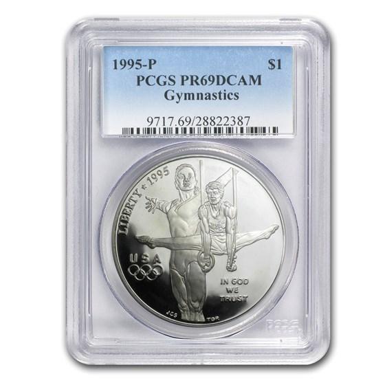 1995-P Olympic Gymnast $1 Silver Commem PR-69 PCGS