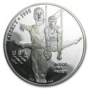 1995-P Olympic Gymnast $1 Silver Commem Proof (Capsule Only)