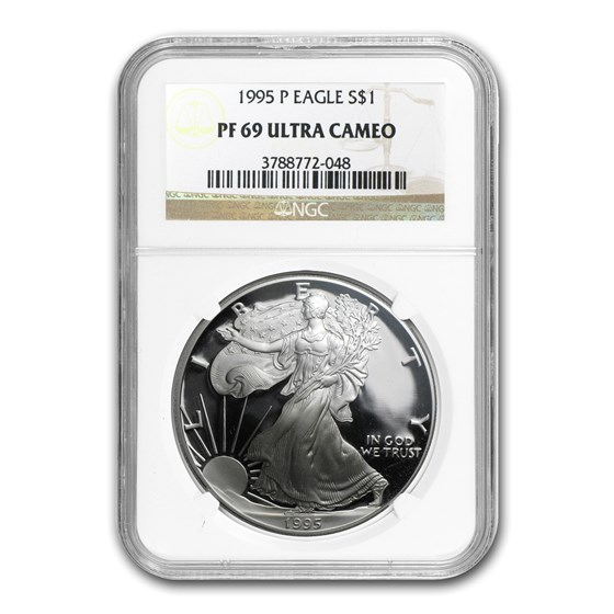 1995-P Proof American Silver Eagle PF-69 NGC