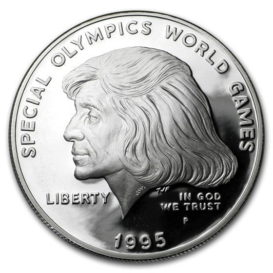 1995-P Special Olympics $1 Silver Commem Proof (w/Box & COA)