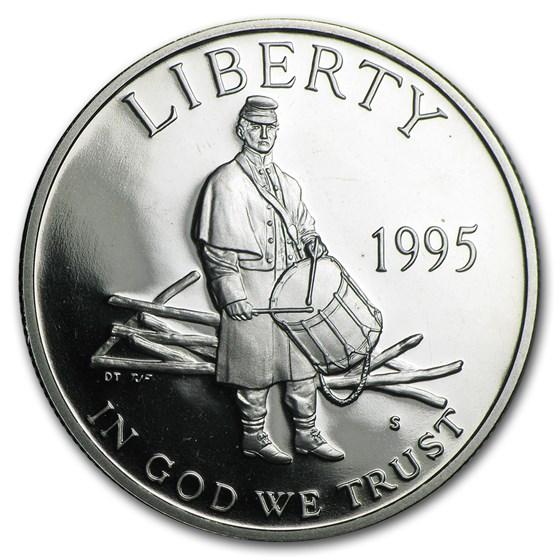 1995-S Civil War 1/2 Dollar Clad Commem Proof (Capsule Only)