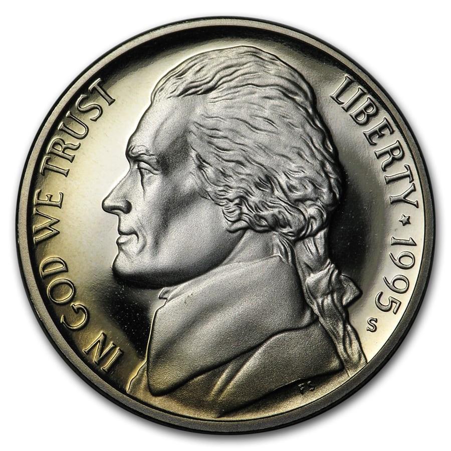 1995-S Jefferson Nickel Gem Proof