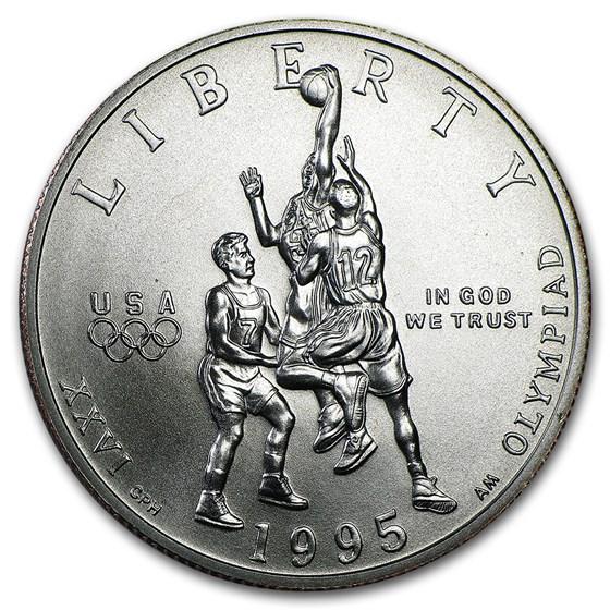 1995-S Olympic Basketball 1/2 Dollar Clad Commem BU (Capsule)