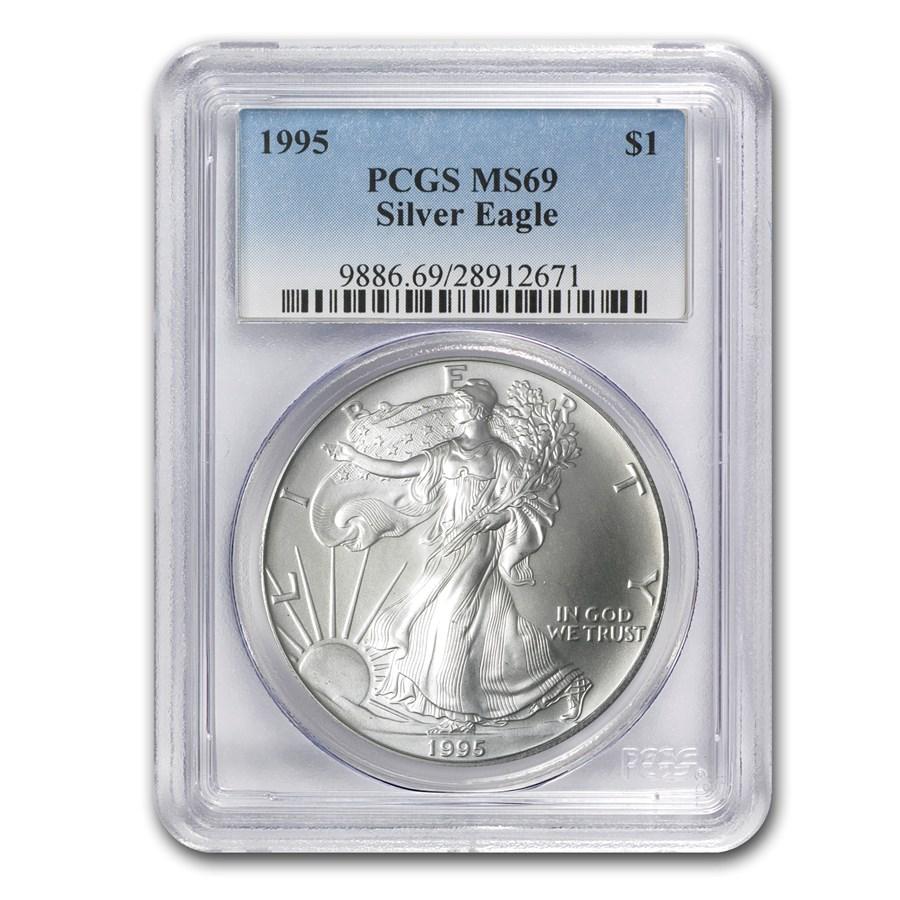 1995 Silver American Eagle MS-69 PCGS