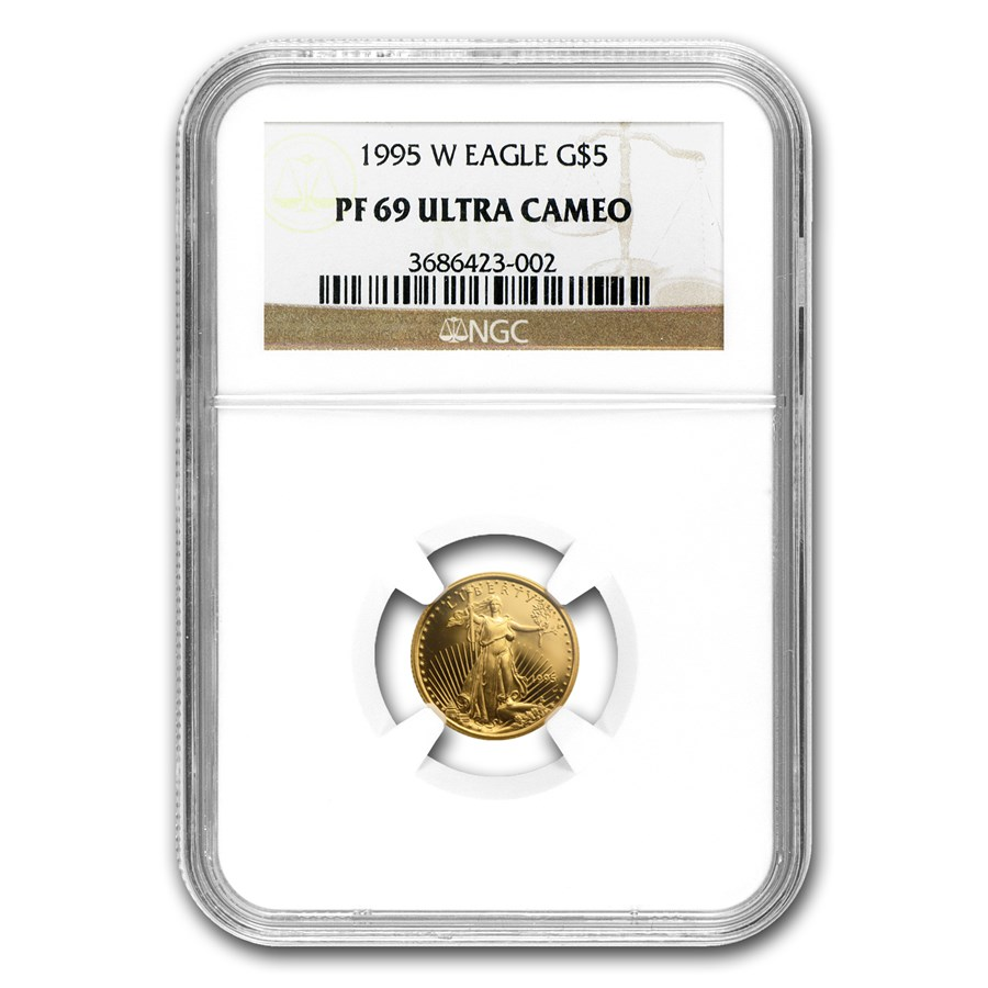 1995-W 1/10 oz Proof American Gold Eagle PF-69 UCAM NGC