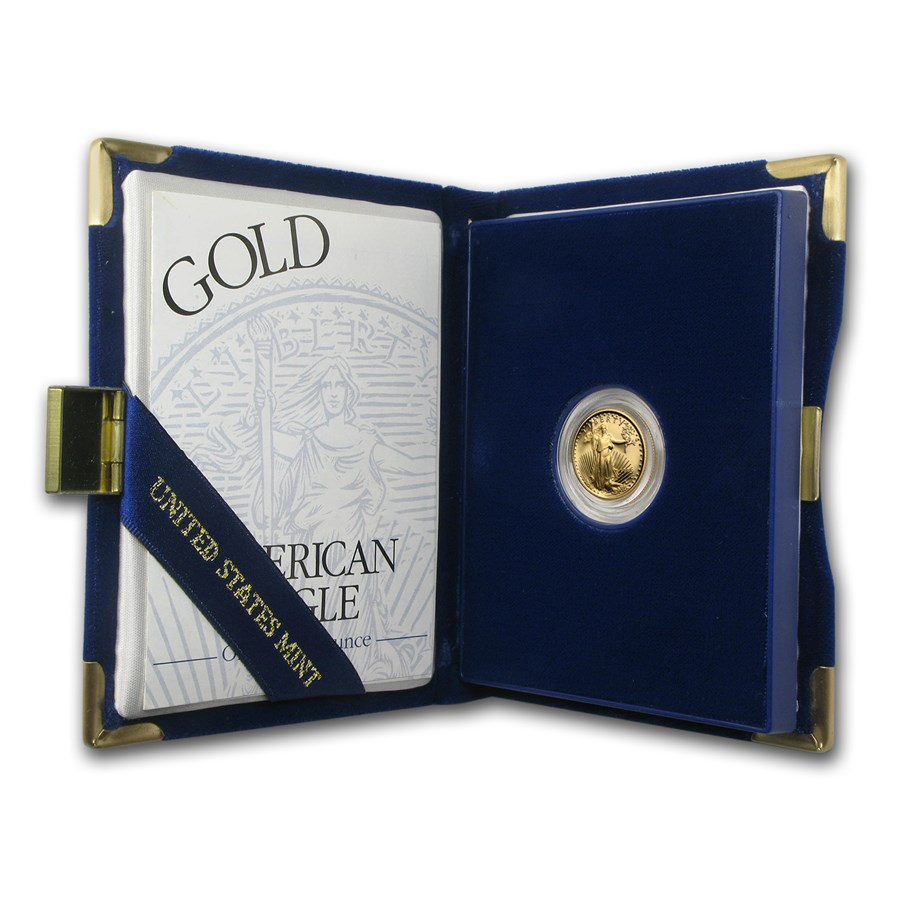 1995-W 1/10 oz Proof American Gold Eagle (w/Box & COA)