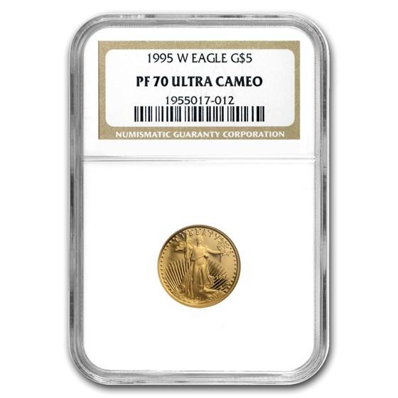 1995-W 1/10 oz Proof Gold American Eagle PF-70 NGC
