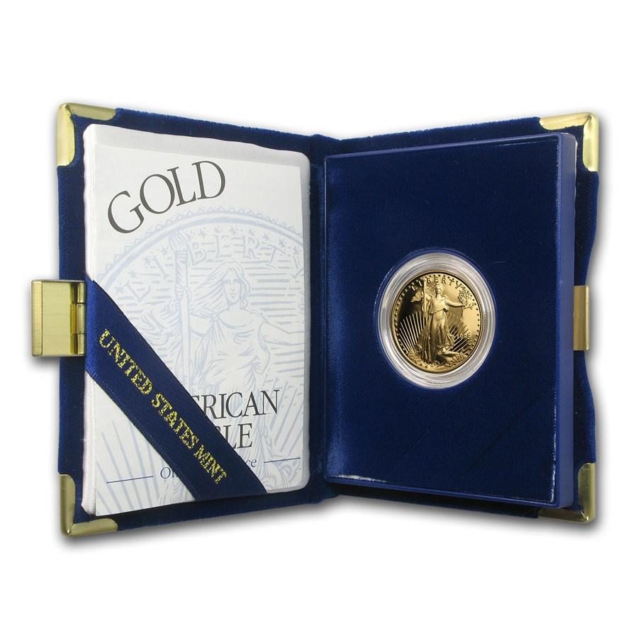 1995-W 1/2 oz Proof American Gold Eagle (w/Box & COA)