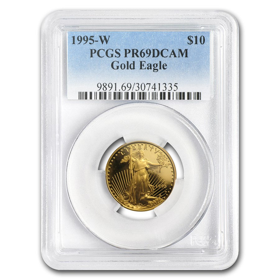 1995-W 1/4 oz Proof American Gold Eagle PR-69 DCAM PCGS