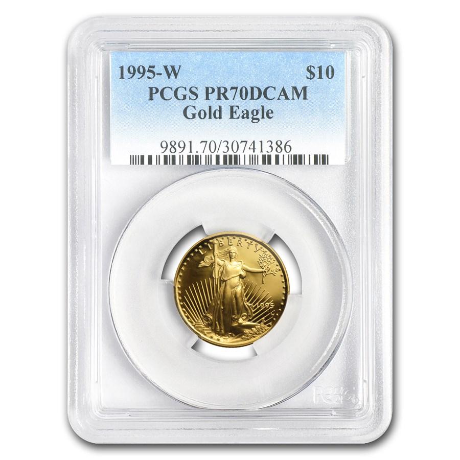 1995-W 1/4 oz Proof American Gold Eagle PR-70 PCGS